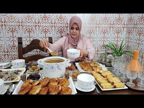 مائدة افطار رمضان في شعبان مع العائلة والأحباب أجواء رمضانية بإمتياز اقتراحات سهلة واقتصادية Youtube