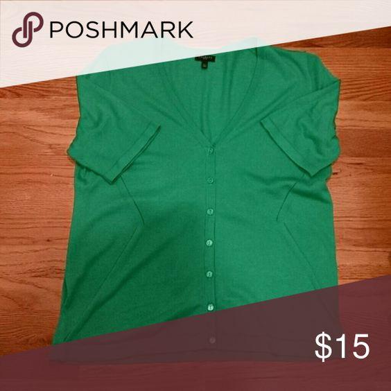 Cardigan Green elbow sleeve EUC Talbots Sweaters Cardigans