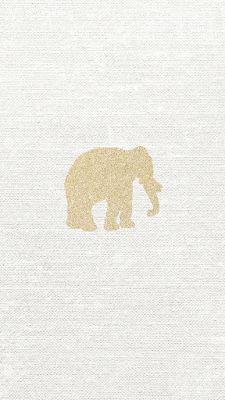Gold glitter elephant vector free iphone 6s backgrounds - Elephant background iphone ...