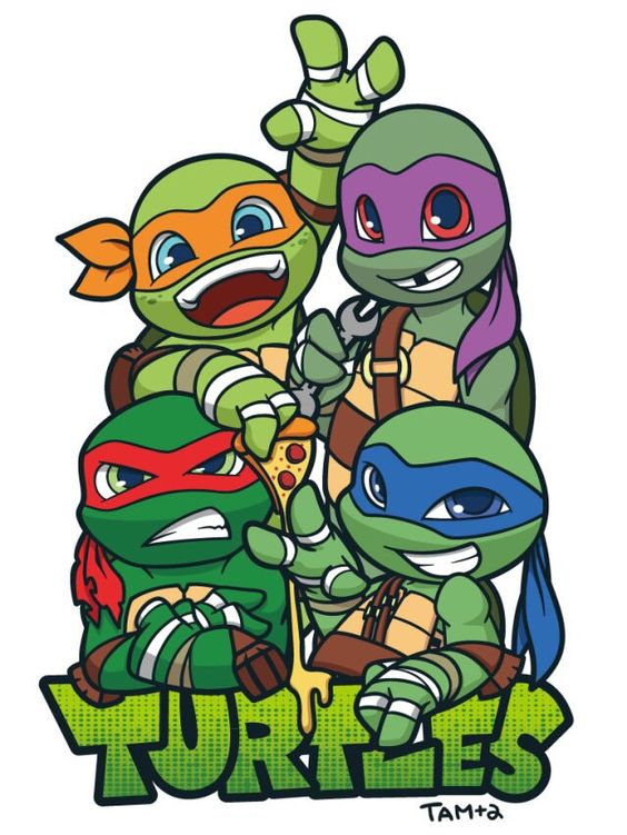 Baby Ninja Turtles Drawings
