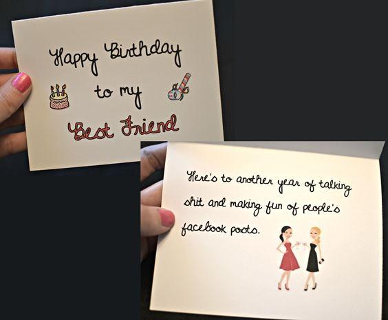 Happy Birthday to my Best Friend Birthday Card funnynaughty – Happy Birthday Card for a Best Friend
