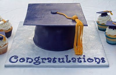 Graduation Cake Recipes Pictures : Graduation Cap Cake and Cupcakes Cupcake, The o jays and ...