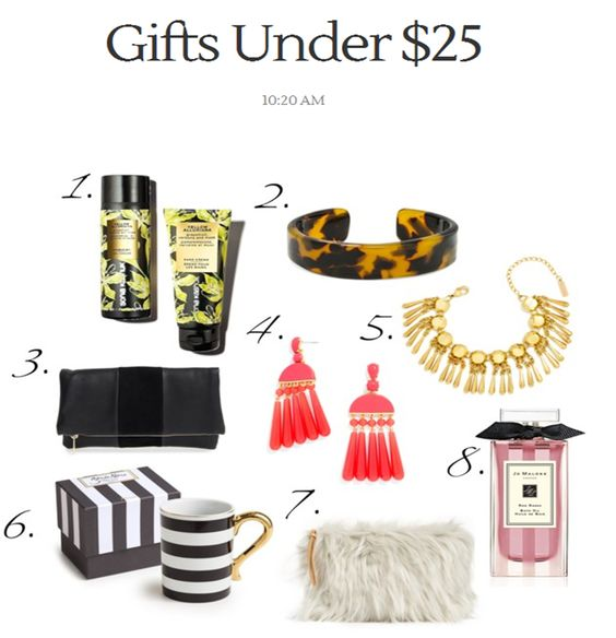 Gifts Under $25 in The Holiday Shop on From The Mirror Style blog.