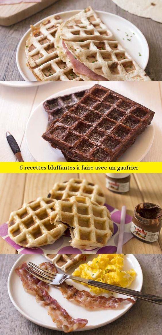 6 recettes bluffantes à faire avec un gaufrier : gaufre brownies, gaufres feuilletées au nutella ou confiture, omelette gaufre, galette de pomme de terre, quesadillas mexicaines...