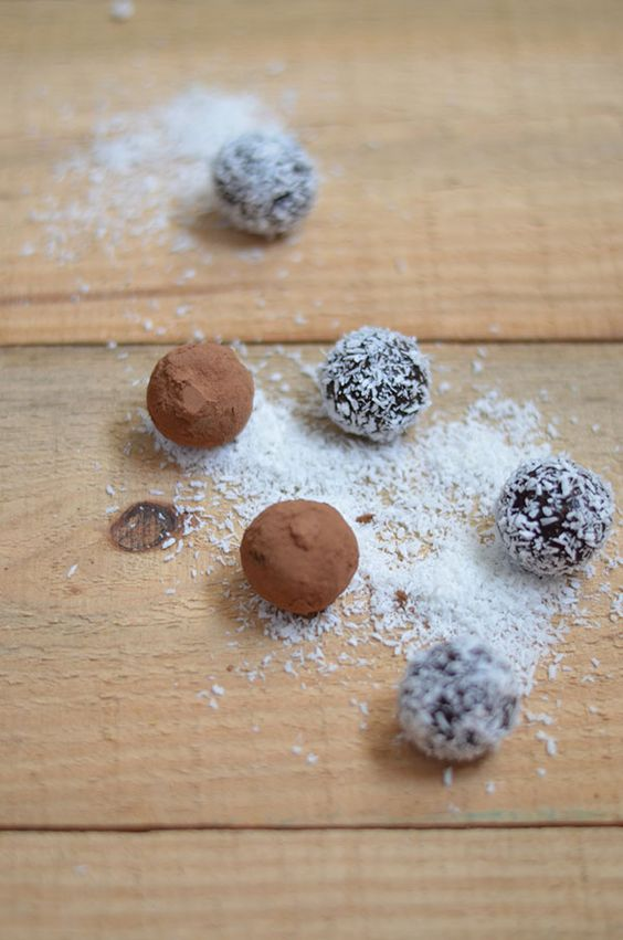 Date and Chocolate Truffles
