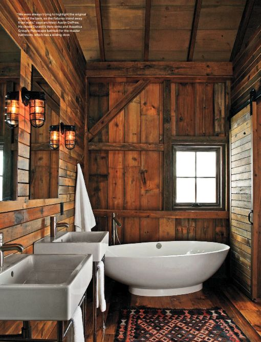 Rustic bathroom design: