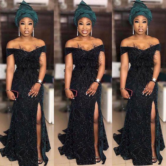 Ravishing Asoebi Styles For Wedding Guest African Lace Dresses Lace Fashion Stylish Dresses