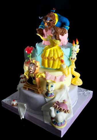 Stunning Beauty and the Beast #Cake Great #CakeDecorating We love and had to share! Ideas and Inspiration Amazing Cake!: