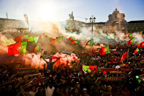 Lisbon (Portugal) celebrating Euro 2016