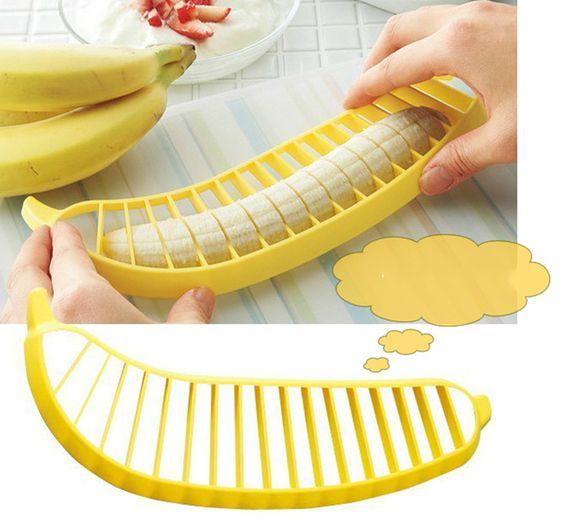 Plátano Slicer cortador Chopper ensalada de frutas pepino Vegetable Peeler herramienta de la cocina