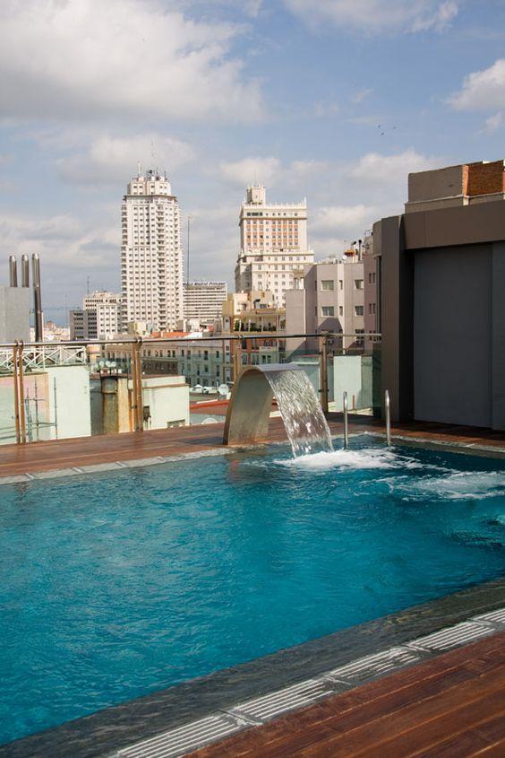 Piscina en la azotea hotel santo domingo madrid http for Construir alberca en azotea