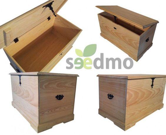 Ba l de madera con herreria lowcost barato oferta tu - Baules baratos madera ...