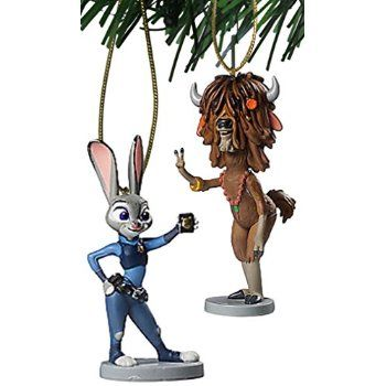 "#Christmas Review Disney Zootopia ""Judy Hopps & Yak"" 2 pc Ornament Set for Christmas Gifts Idea Stores . Christmas  is often a beautiful season, however let's be honest: It can also be nerve-racking along with means over-stimulating in case you have the mil things to do and the ones to view. We now have ...:"