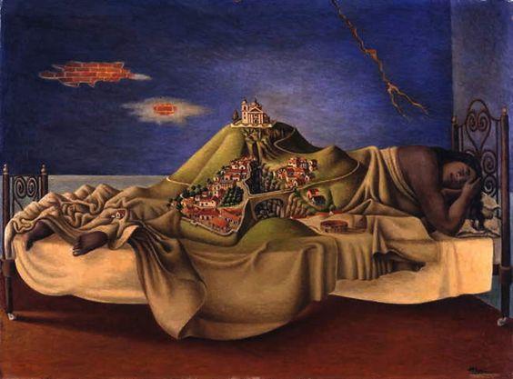 Antonio M. Ruíz, La Malinche (Le rêve de la Malinche), 1939