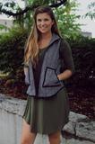 Chevron Herringbone Vest – UOIOnline.com: Women's Clothing Boutique