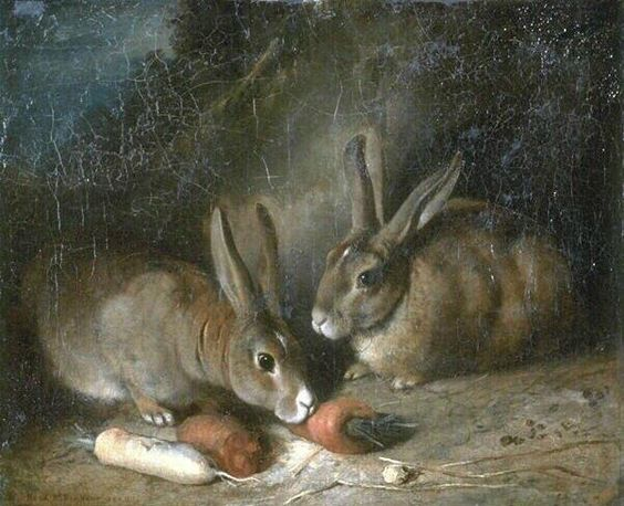 """Rabbits"" by Rosa Bonheur, 1860"