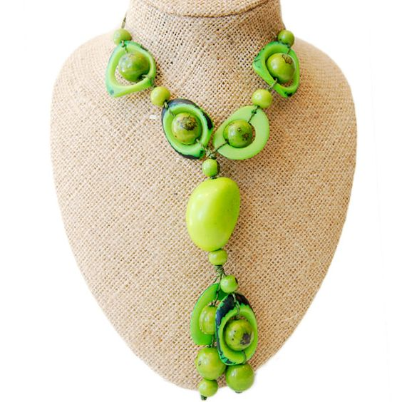 Alma Foresta Necklace - Acid Green by ladymosquito #Necklace #ladymosquito
