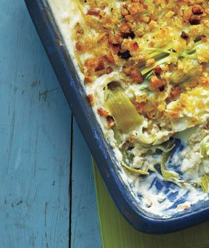 Culinary Word of the Day: Creamy Leek Gratin  Skip the bagged salad tonight. Instead, round out your mains with this seasonal accompaniment—and watch your meal spring to life.