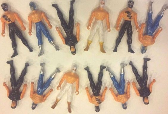 Light Weight Plastic Wrestling Action Figures Party Favor Doll / Cake Topper Lot #Wrestler