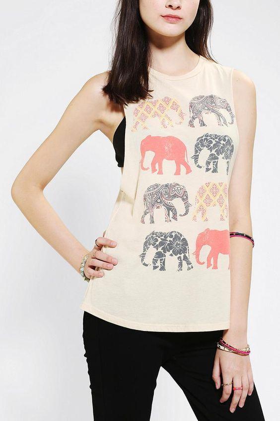 Corner Shop Elephant Muscle Tee #urbanoutfitters