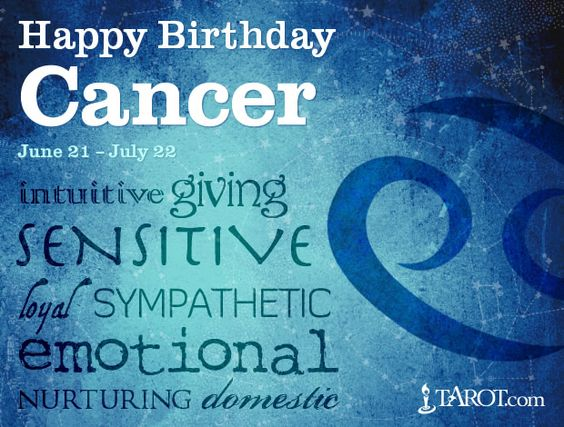Happy Birthday Cancer friends!