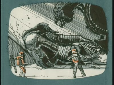 ridley scott's storyboard for alien