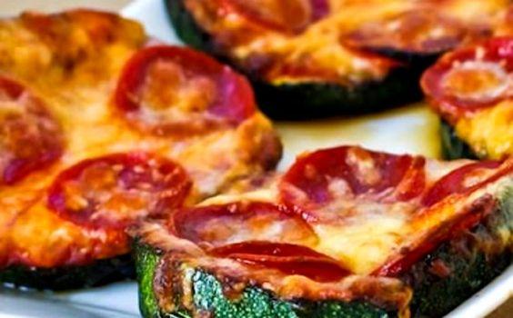 Receita de pizza com massa de abobrinha para a fase estabilização dukan.