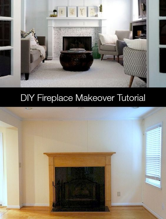 Fireplace makeovers, Fireplaces and Diy fireplace on Pinterest