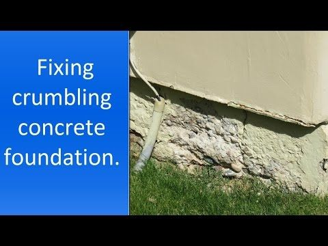 How To Repair Crumbling Concrete Near Foundation Youtube Foundation Repair Repair Concrete