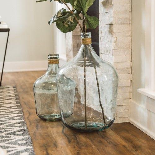 Mercer Large Recycled Glass Vase Jet Com Large Recycled Glass Vase Large Glass Vase Glass Vase Decor