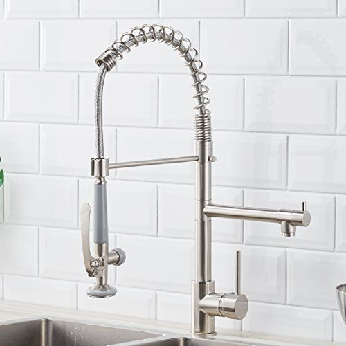 Fapully Commerical Pull Down Kitchen Sink Faucet With Spr Https Www Amazon Com Dp B07c1l Kitchen Faucet Reviews Kitchen Sink Faucets Modern Kitchen Faucet