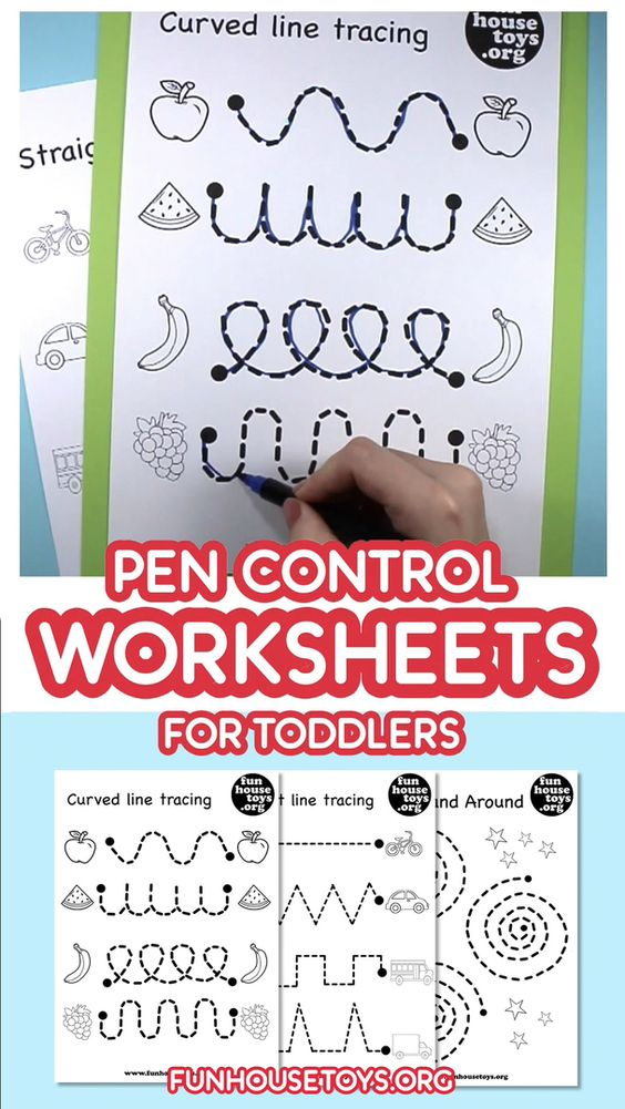 Our Pen Control And Tracing Printables Are A Fun Way To Teach Toddlers How Video Preschool Worksheets Free Preschool Worksheets Preschool Worksheets Free Printables Pen control worksheets