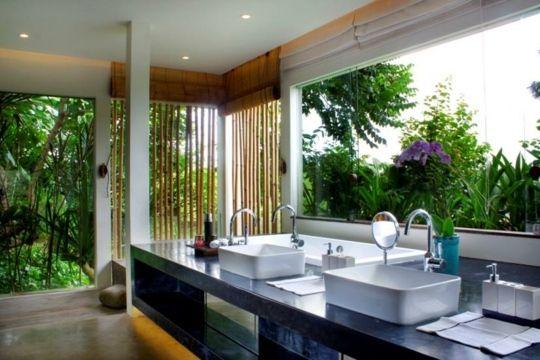 exotisches badezimmer design
