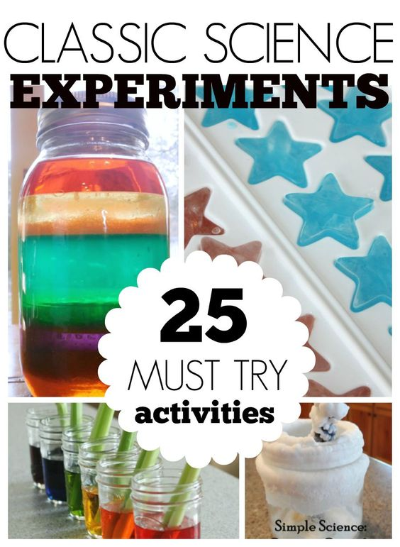 25 Classic Science Experiments for kids