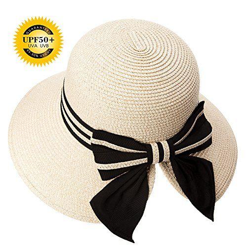 Siggi Floppy Summer Sun Beach Straw Hats For Women Accessories Wide Brim Upf 50 Packable 56 58cm Beige Summer Accessories Summer Hats Floppy