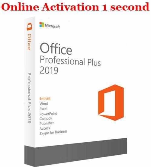 Microsoft Office 2019 Windows Lifetime License Key Ebay