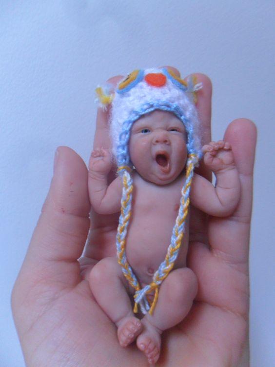 """mini baby polymer clay 4"""" By Sheila Mrofka Babies"""