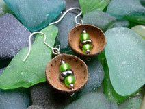 #Natur #Schmuck #Ohrring #Ohrringe #elegant #nature #jewellery #evening #Ausgehen #Perle #holz #wood