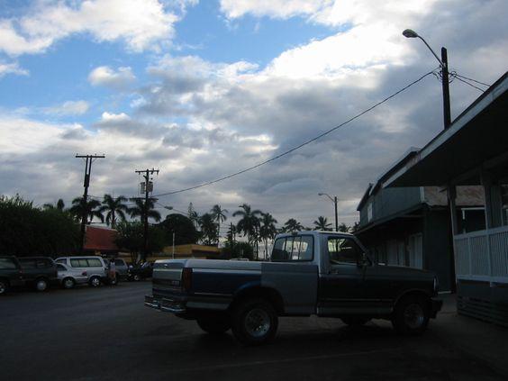 Kaunakakai - the main street of molokai-isle, HI.