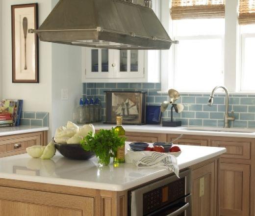 Blue And White U Shaped Kitchen Cabinet: Maple Cabinets, White Kitchen Cabinets And Kitchens On