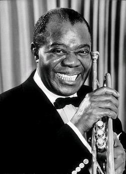Louis Armstrong totally classic. Now that is a big smile, I love it. #tcarter2012