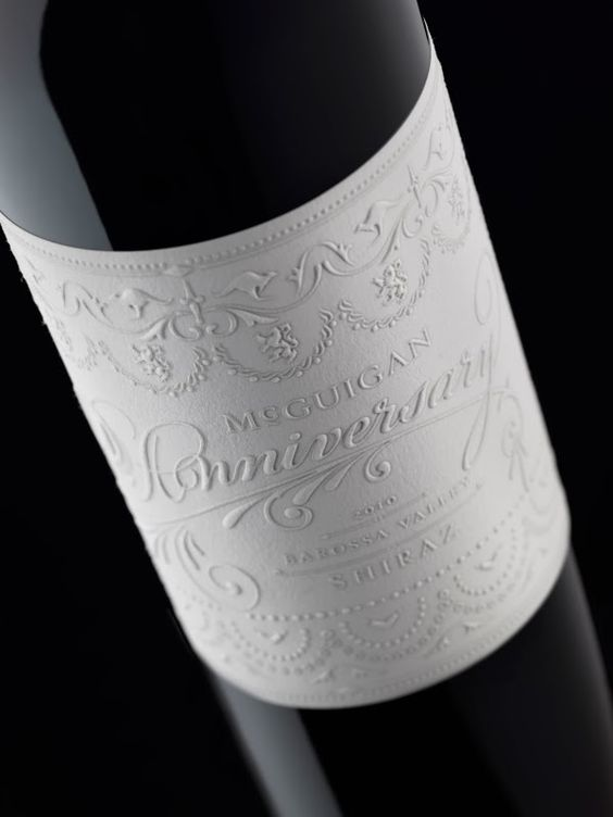 McGuigan Anniversary wine featured on Lettering Time - design by Stranger & Stranger
