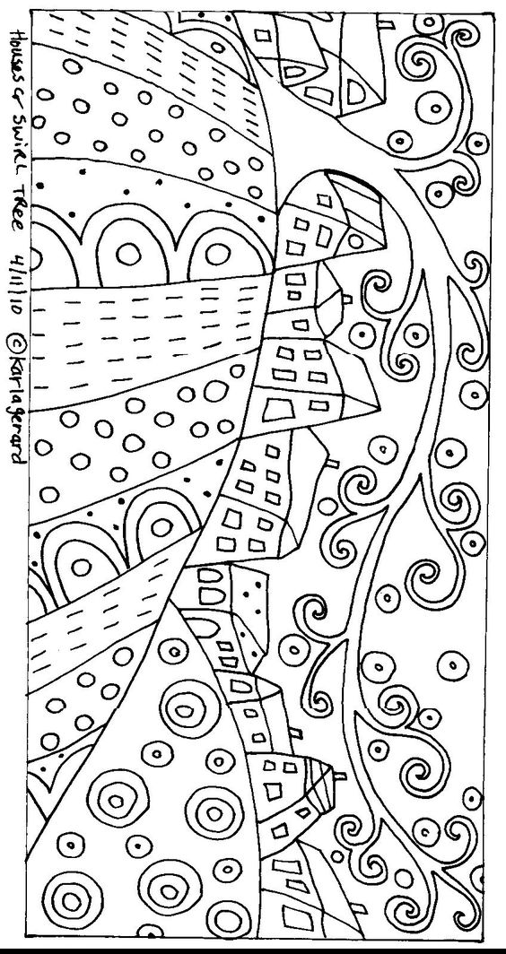 folk art  coloring and house on pinterest