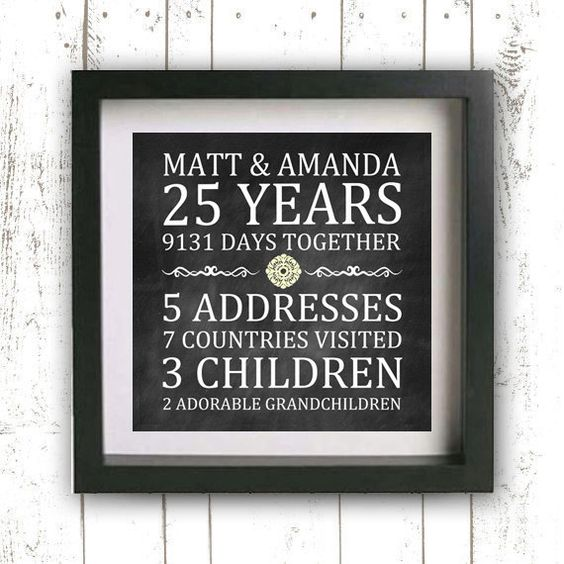 Unique 25th Wedding Anniversary Gift Ideas For Parents : Wedding anniversary, Anniversaries and Parents on Pinterest
