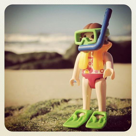playmobil meisje met zwemvest&duik-accessoires