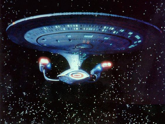 This is, I believe, the very first promotional render of the Enterprise. It's also my favourite. I wish I could find a better quality scan of it though.  http://hqwallbase.com/images/big/star-trek-uss-enterprise-wallpaper.jpg