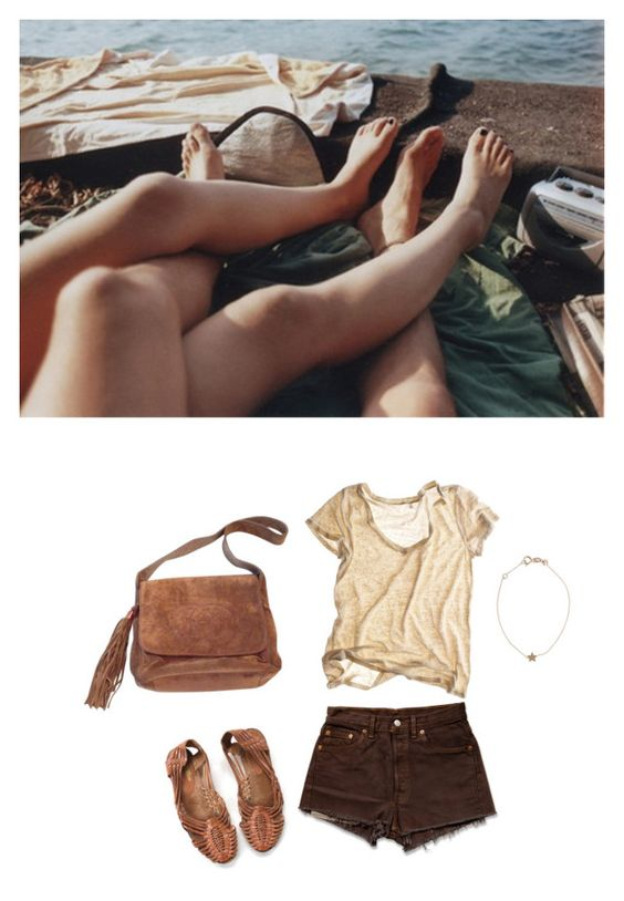 """back down south"" by nightwalker ❤ liked on Polyvore featuring Chanel, Calypso St. Barth, Kismet, Levi's, women's clothing, women, female, woman, misses and juniors"