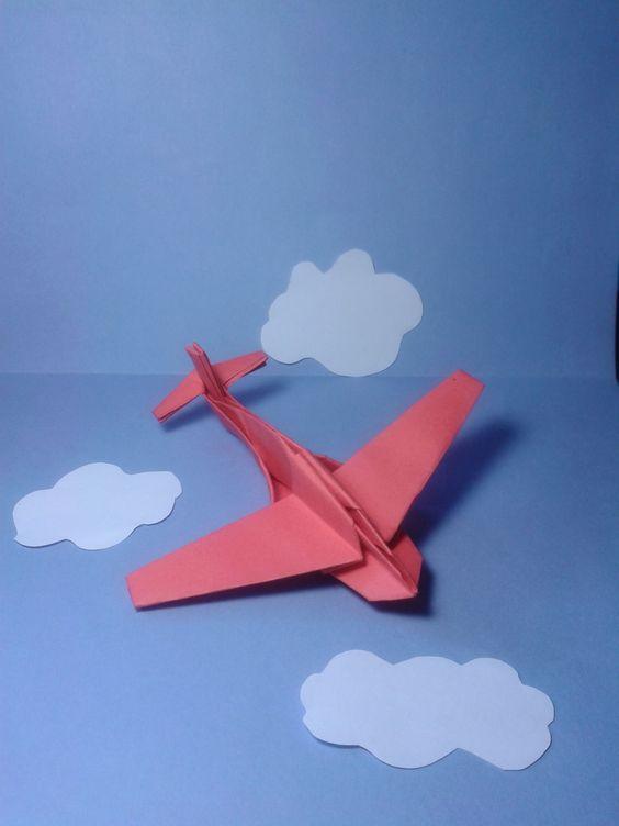 origami plane jimbo folded by majomajo tutorial here http