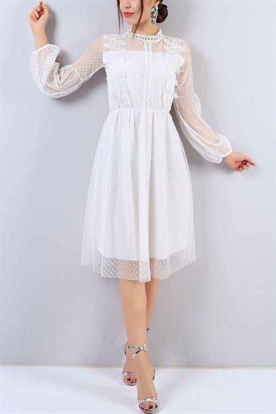 Beyaz Elbise Kombinleri Kadin Blogu 2020 Elbise Dantel Elbise Elbise Modelleri