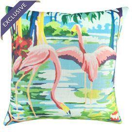 Flamingo Pillow IV